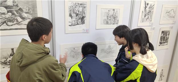 我校美术社团赴西安市艺术学校交流学习